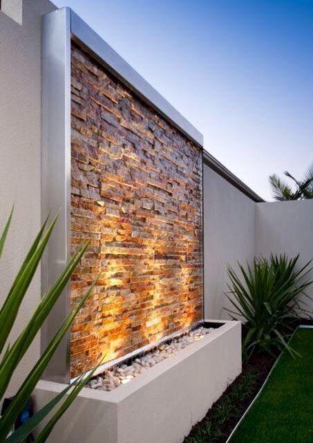 Waterfall Wall More Garden Design Ideas On A Budget Water