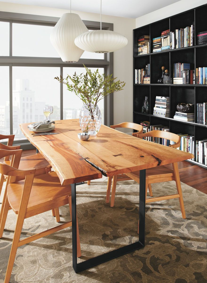 Room Board Chilton 72w Table In Cherry Modern Dining Tables Modern Dining Room Kitchen Furniture Modern Dining Room Modern Dining Table Live Edge Dining Table