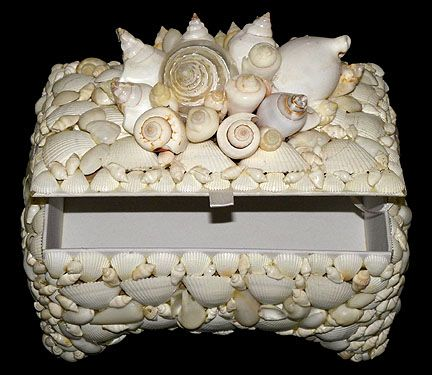 SEASHELL JEWELRY BOX Seashell Jewelry Boxes And Shell Crafted