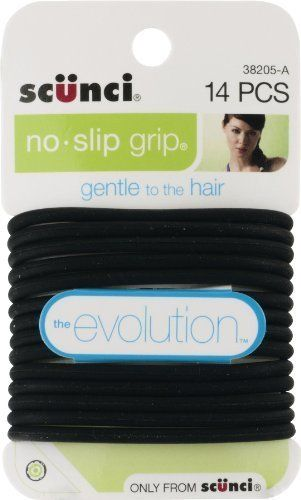 Scunci 3820503a048 Black Clear No Slip Grip Ponytailers  gt  gt  gt  You can 67e38dff3b8