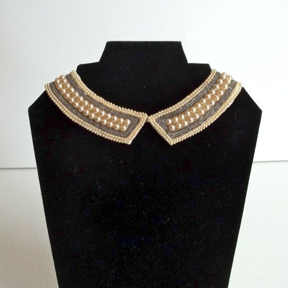 Vintage Pearl Collar Made in Japan / Beaded by VintageVoracity