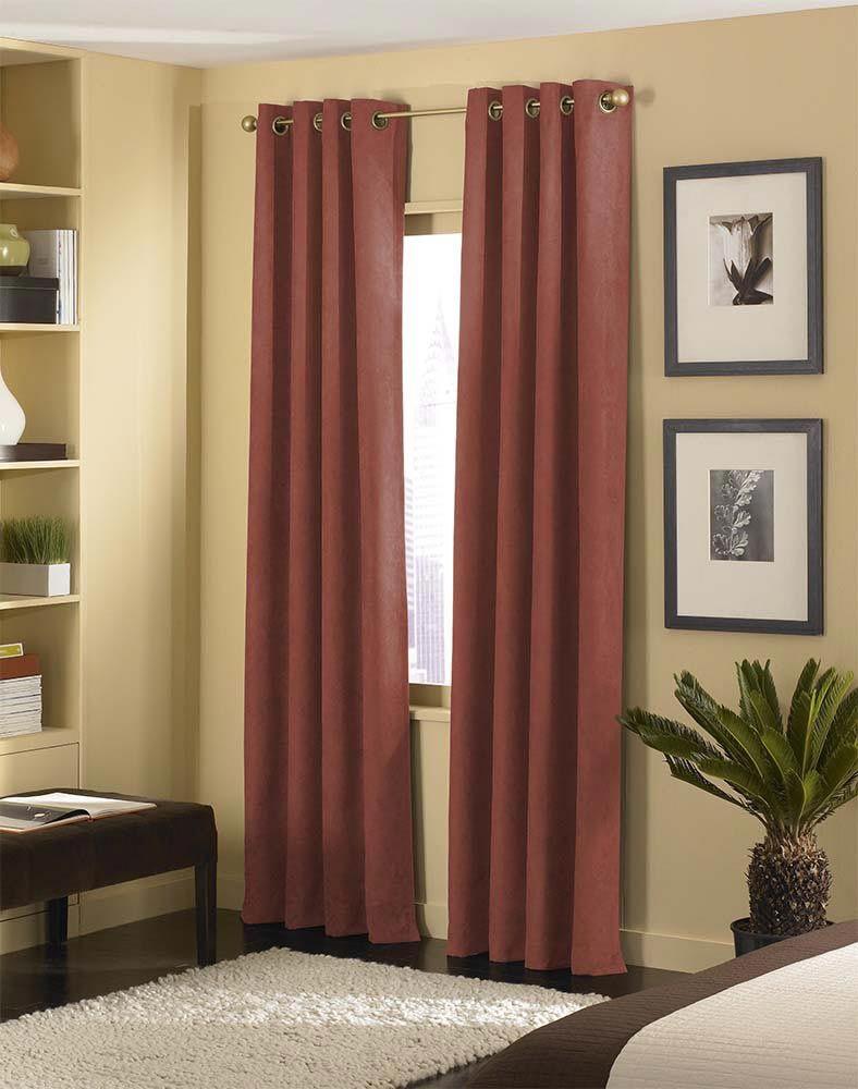 Cameron luxe microsuede grommet curtain panel curtainworks
