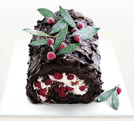 This is a fantastic cake to serve as a dessert or at teatime over the festive season and can be made up to a day in advance