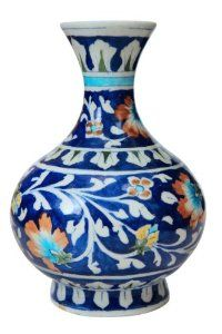 Amazon Com Christmas Gifts A Stunning Vase With Handpainted Floral Designs Famous Jaipur Blue Pottery Gift Ideas For Pottery Gifts Blue Pottery Hand Painted