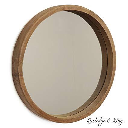 Amazon Com Rutledge King Riverside Wooden Mirror Wood Wall