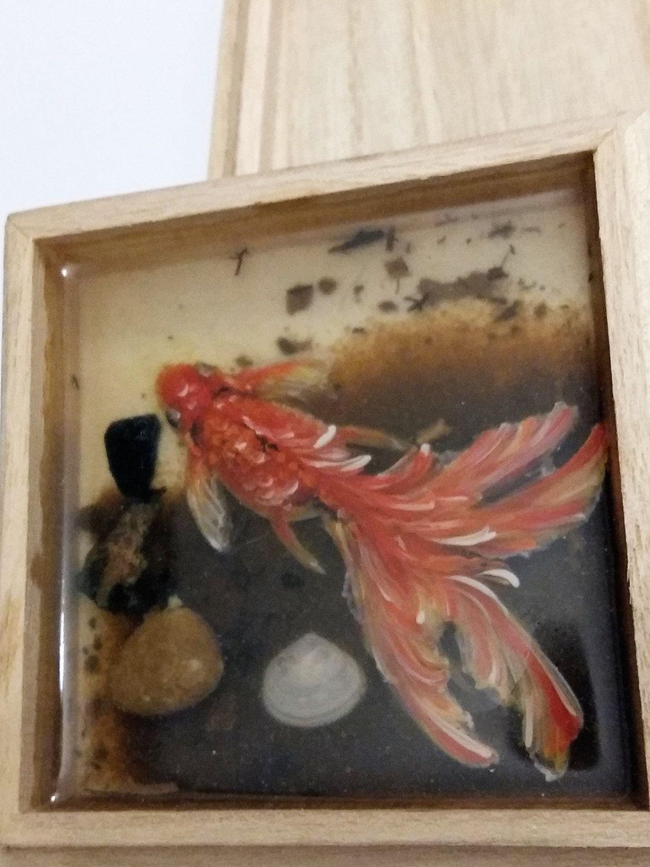 Koi fish 3d painting in resin original 3d painting direct for Resin koi fish