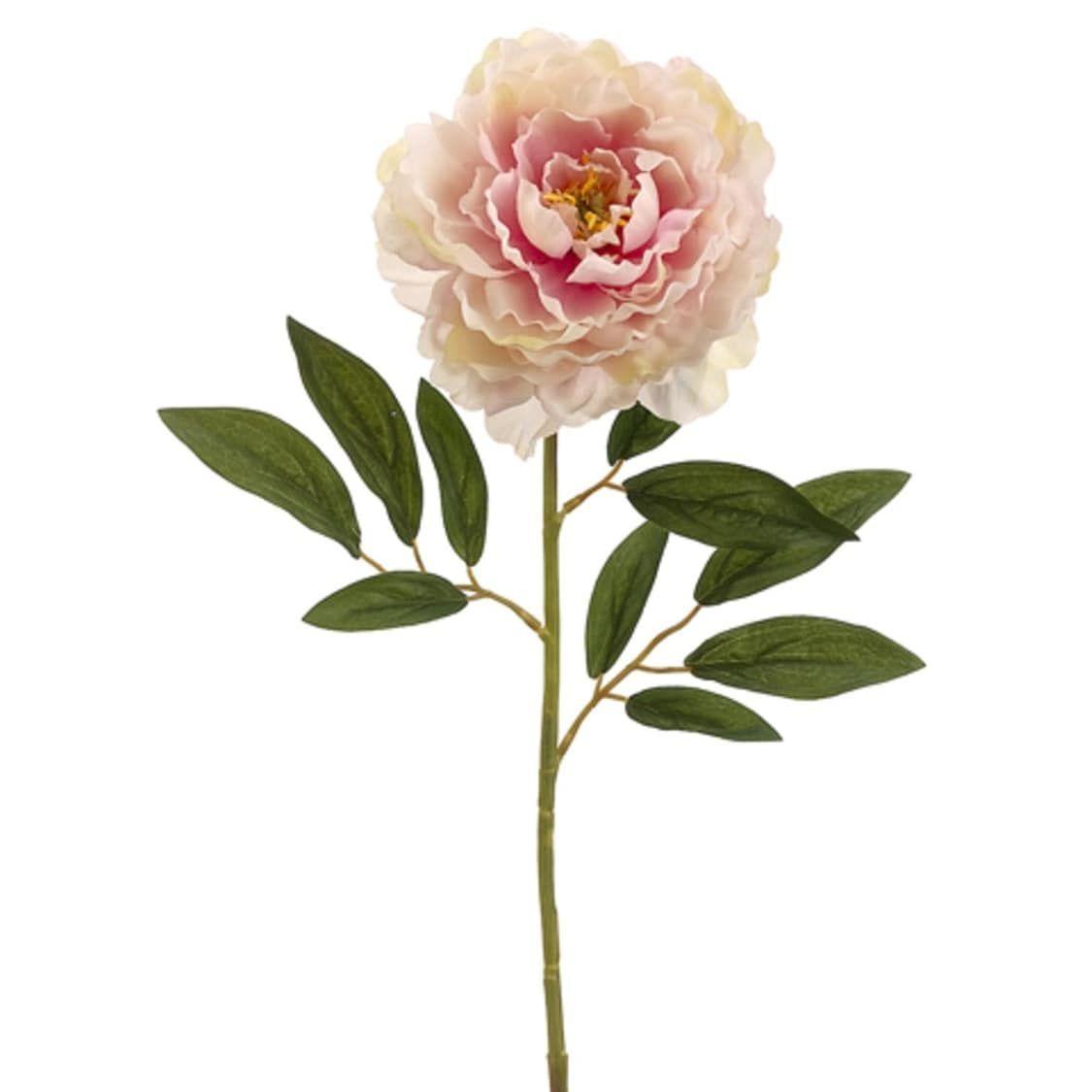 Club Pack Of 24 Artificial Light Pink Peony Silk Flower Sprays 29