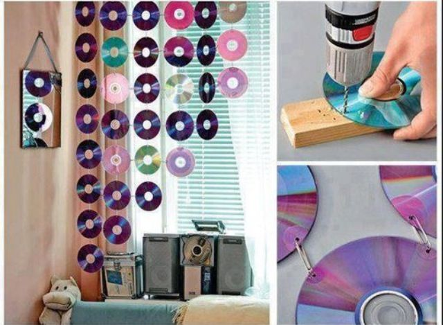 DIY cd curtain