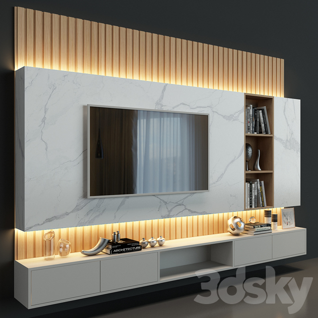 3d models tv wall tv wall set 41 in 2020 living on incredible tv wall design ideas for living room decor layouts of tv models id=13864
