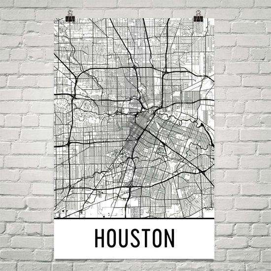 Houston Map Houston Art Houston Print Houston Tx Poster