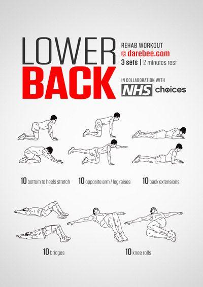 Nhs Collaboration Back Rehab Lower Back Exercises