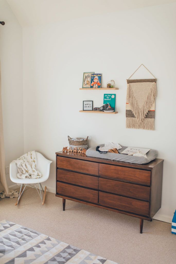 Modern Eclectic Boy Nursery Love The Mid Century Dresser And Fab Decor