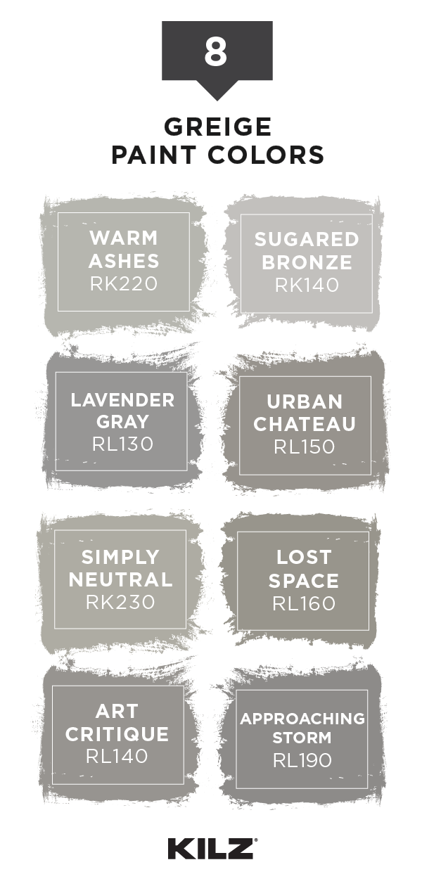Refresh Your Interior Design Scheme With One Of These Greige Paint Colors From Kilz Complete C Exterior Paint Colors For House Greige Paint Colors Greige Paint