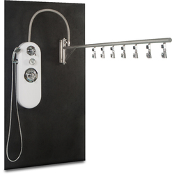 WaterWerks Ditto Vichy Shower / 7 Shower Heads - The stylish Ditto Vichy Shower can offer a wide variety of treatments in the wet room. The swinging stainless steel rain bar is 84' long allowing for complete coverage of the guest below. The seven spray ad #wetrooms