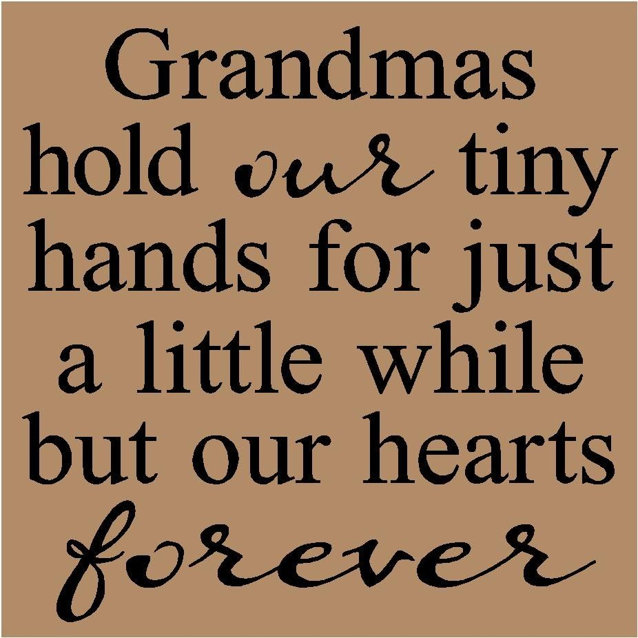Grandma Quotes And Sayings | T45 Grandmas hold our tiny ...