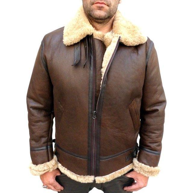 Veste cuir de mouton homme