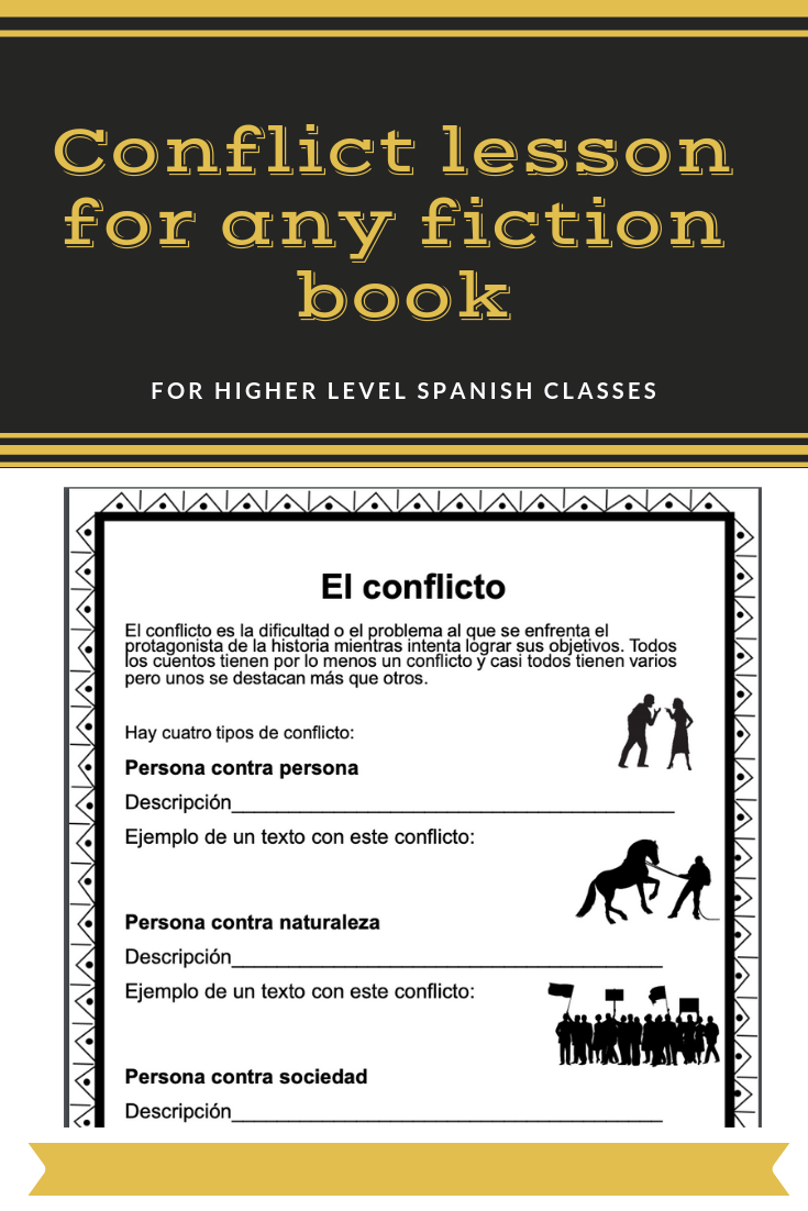 Conflict In Spanish For Any Fiction Book El Conflicto Conflict In Literature Reading Comprehension Activities Student Writing [ 1102 x 735 Pixel ]