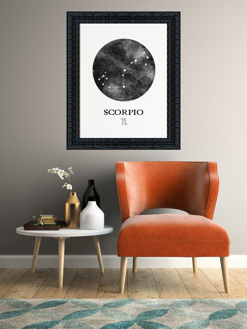 Scorpio Zodiac Astrology Poster Constellation Art Office Wall