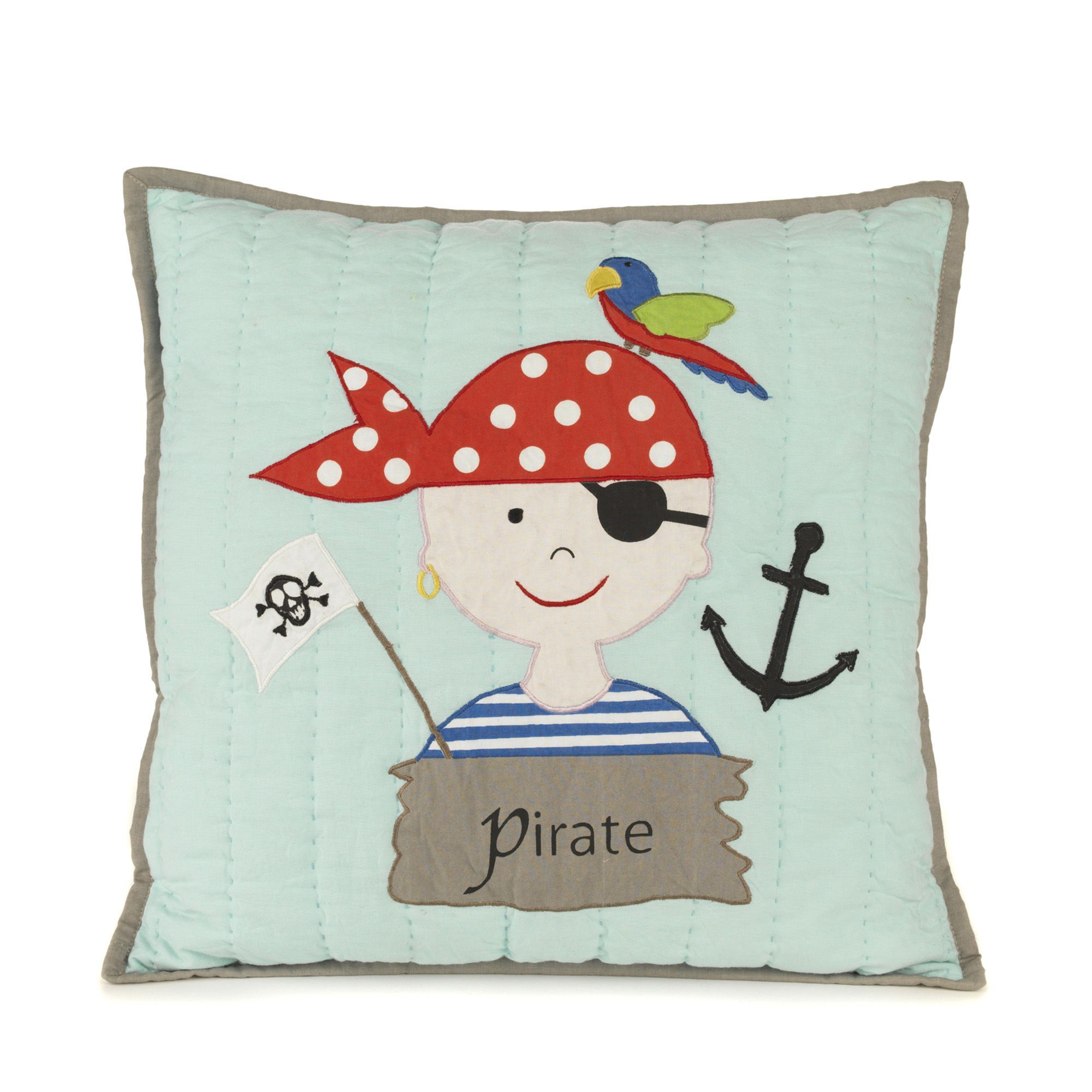coussin enfant bleu pirate les coussins d co enfants les tapis rideaux et coussins. Black Bedroom Furniture Sets. Home Design Ideas