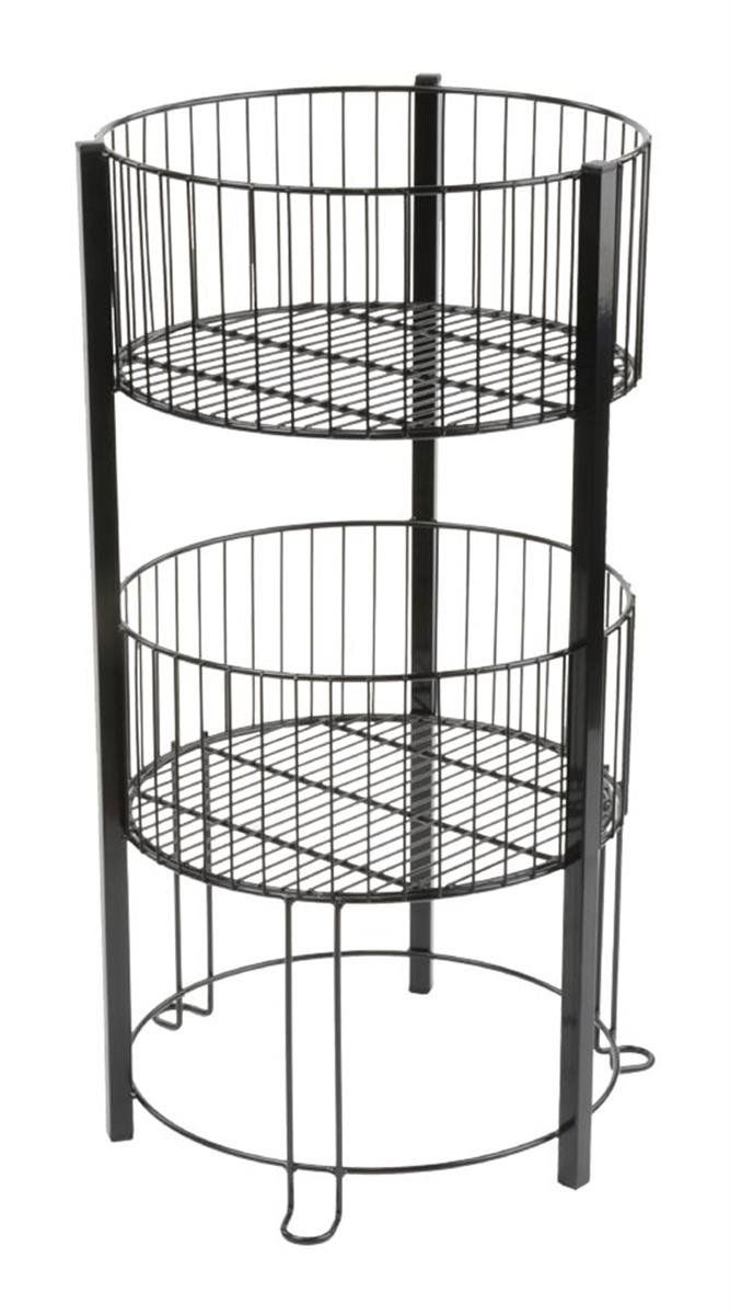 office storage baskets. Displays2go 2-Tier Wire Dump Bin For Floor Displays 16-Inch Round Retail Storage · BasketsOffice Office Baskets