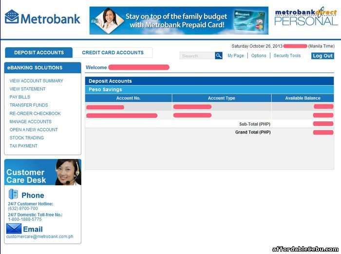 How To Inquire Account Balance In Metrobank Online Accounting Accounting Jobs Social Media Jobs
