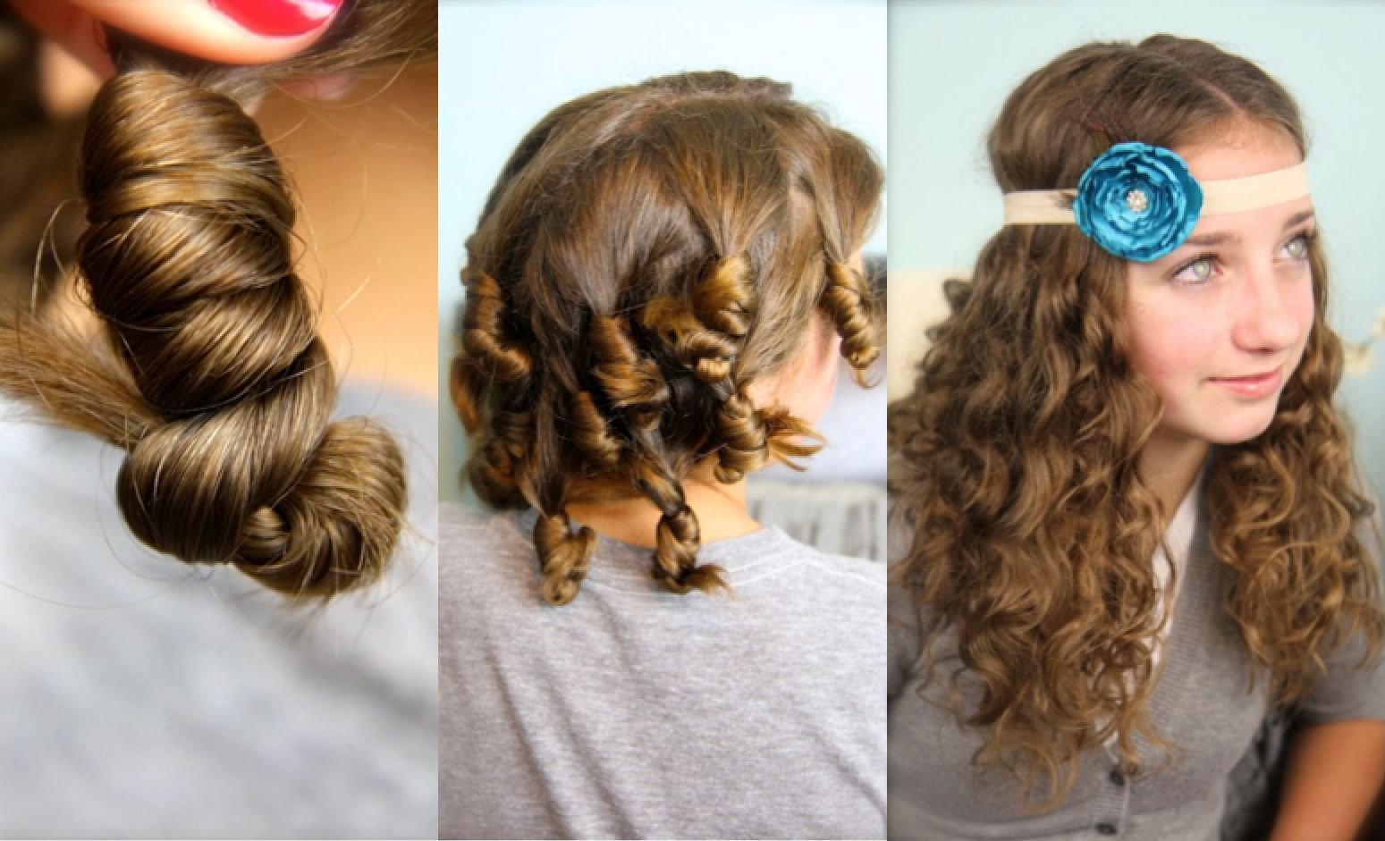 No heat curls super simple think this is my fave new site for your girls will love this curly cocoon hairstyle which gives super fun curls skips the heat damage check out our no heat cocoon curls hairstyle here solutioingenieria Choice Image