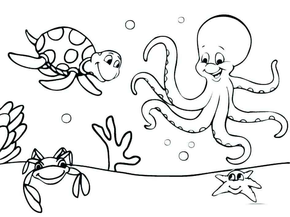 - The World Under The Sea Coloring Pages For Kids - Coloring Pages For Kids  On Coloring-Forkids.… Animal Coloring Pages, Ocean Coloring Pages,  Octopus Coloring Page