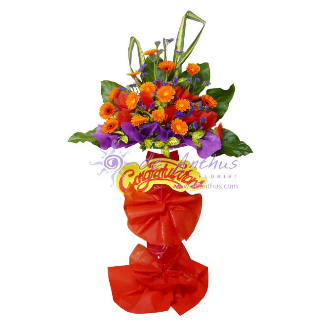 Single Tier Congrats Flower Stand Arrangement - Visit http://www ...