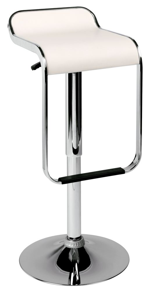 Super Dwell Low Back Loop Bar Stool White D2O Cac House Caraccident5 Cool Chair Designs And Ideas Caraccident5Info