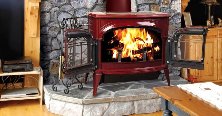 Encore Two In One Wood Burning Stove Freestanding Fireplace Vermont Castings Wood Stove Wood