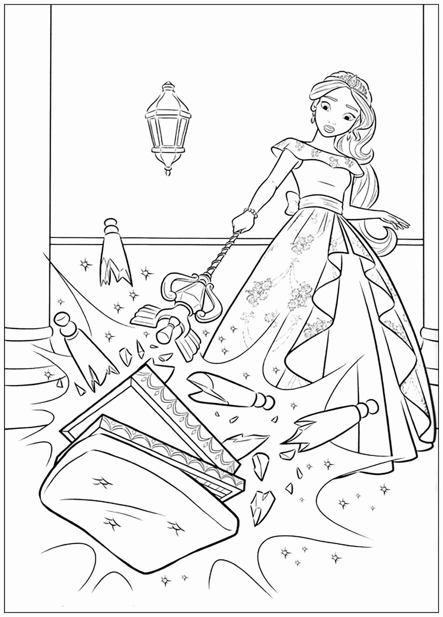 Elena Of Avalor Coloring Book Lovely Elena Avalor Free To Color For Children Elena Ava Disney Princess Coloring Pages Princess Coloring Pages Coloring For Kids