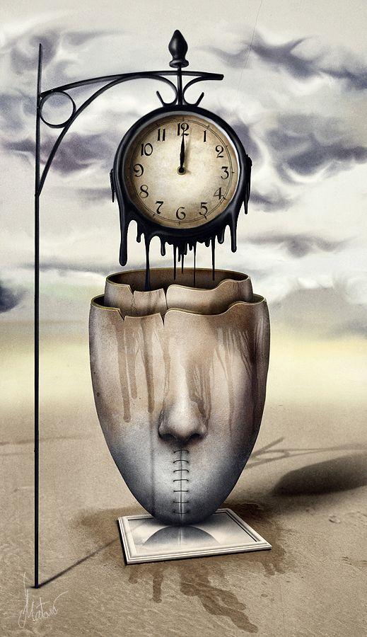 It S Time By Njakkk Clock Art Surreal Art Photoshop Manipulation