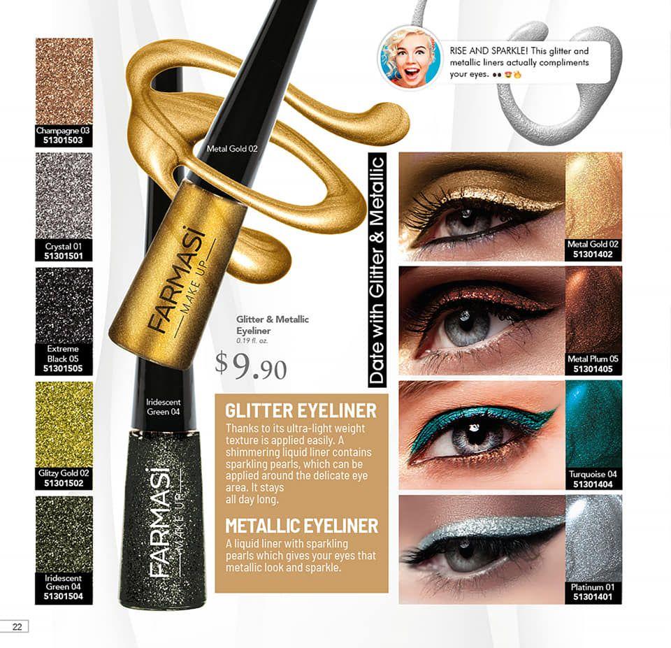 Farmasi Glitter Eyeliner #glittereyeliner