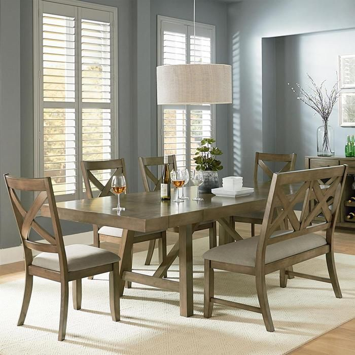 Omaha 6 Piece Dining Set In Weathered Grey | Nebraska Furniture Mart