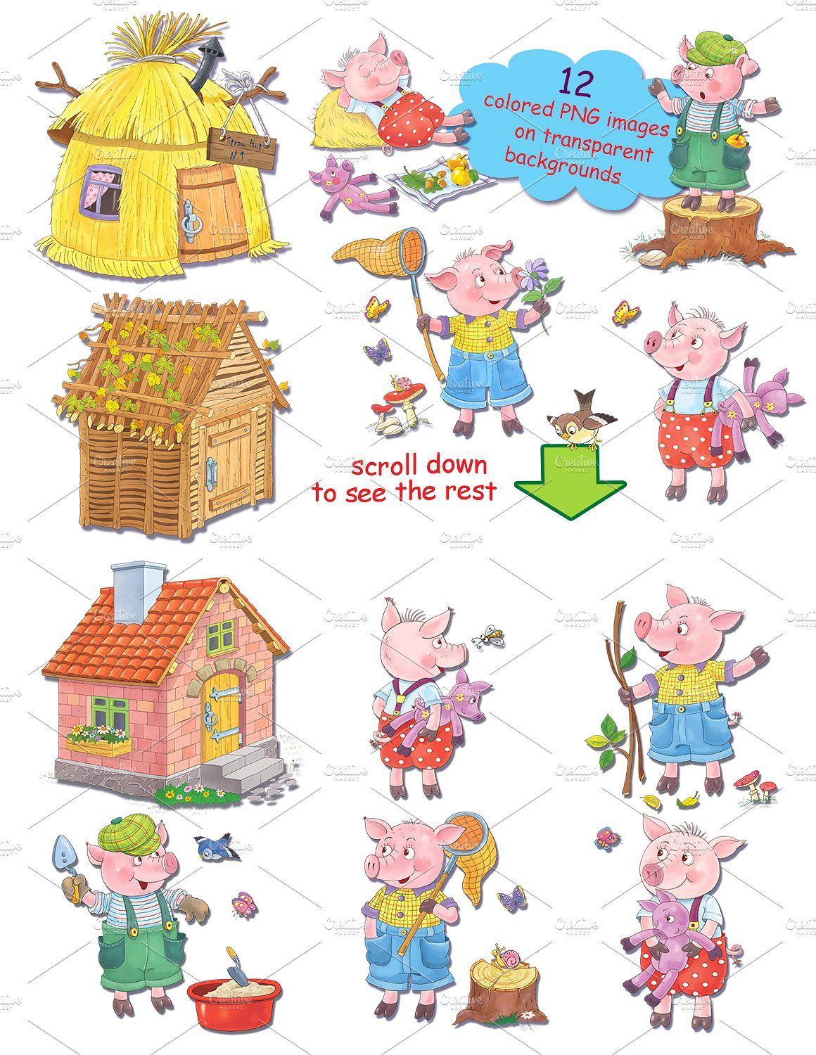 The Three Little Pigs Bundle Pack Colorful Included