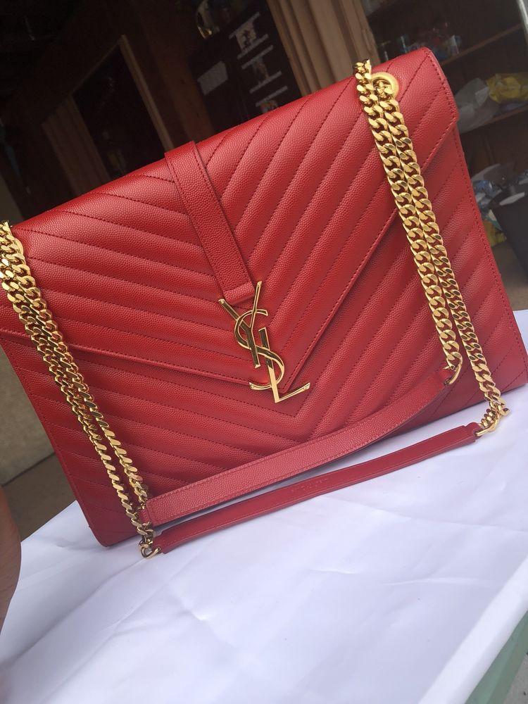 ea047504df3ba Authentic YSL Yves Saint Laurent Large Envelope HandbagNEW #fashion ...