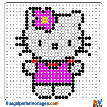 Hello Kitty 3 Bügelperlen Vorlage Auf Buegelperlenvorlagencom