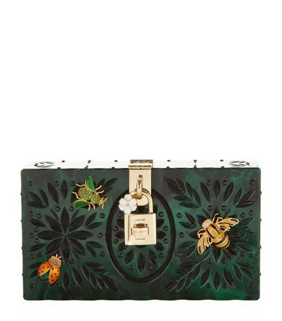 Dolce & Gabbana Dolce Embellished Plexiglass Box Clutch to buy at Harrods. Shop evening bags online and earn Rewards points.