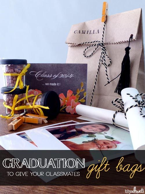 Create fun graduation gift bags for your classmates.