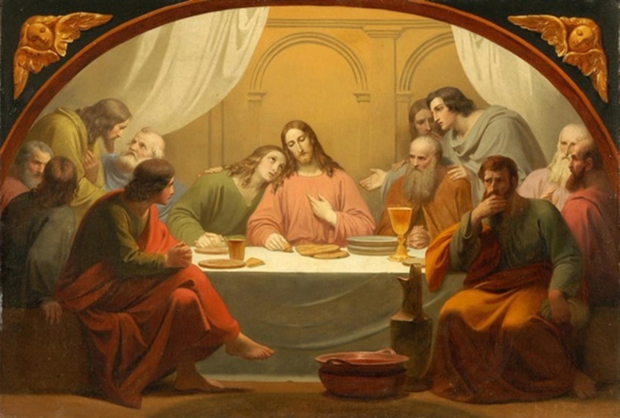 the last supper by melchior paul von deschwanden catholic