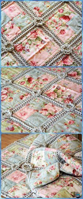 Crochet Fabric Quilt Blanket Free Pattern - Crochet Crochet Summer ...
