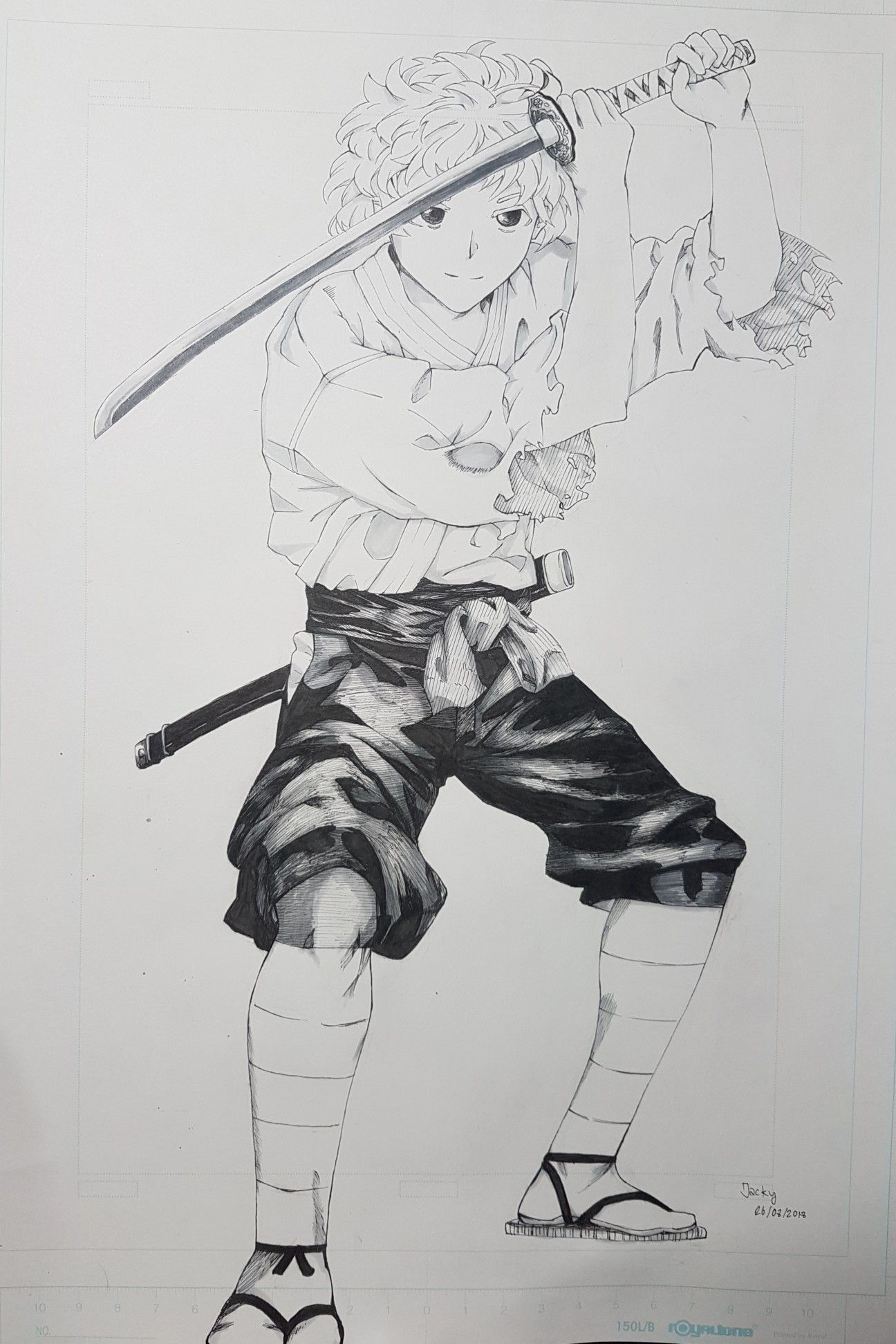 Sunao Tsugumomo Manga Inking And Drawing