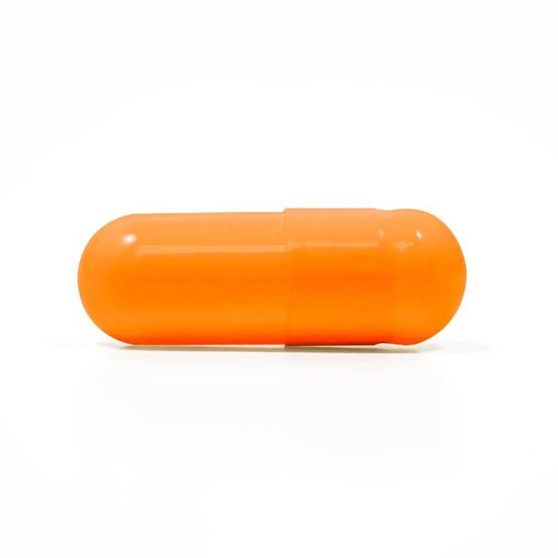 Capsuline Orange Flavored Gelatin Empty Capsules Size 00 Orange Orange Gelatin Capsules Empty Capsules Gelatin