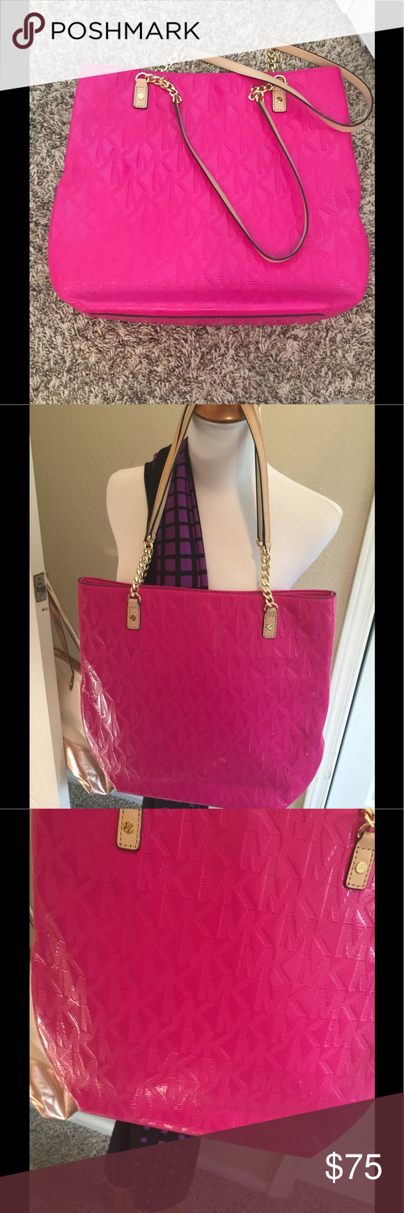 a2e28a8f1234 Beautiful Authentic MK Pink Tote Lovely authentic Michael Kors bag Tote 12  x 13 x 3.5 Gold hardware Excellent clean condition Unused condition Michael  Kors ...