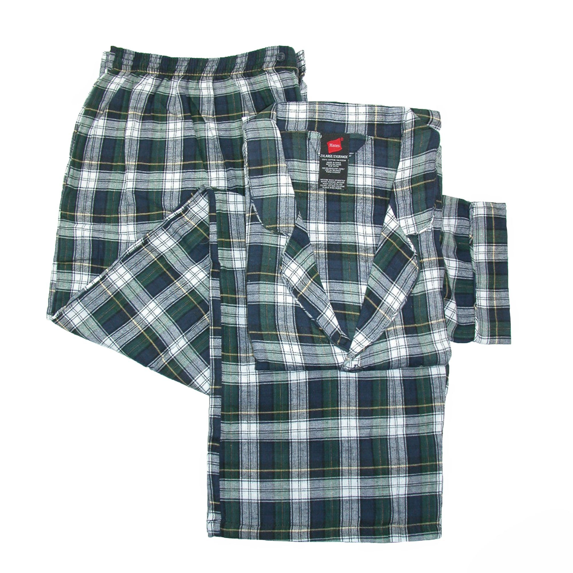 Red flannel pajama pants  Hanes Menus Cotton Flannel Pajama Set  Flannel pyjamas Pyjama sets