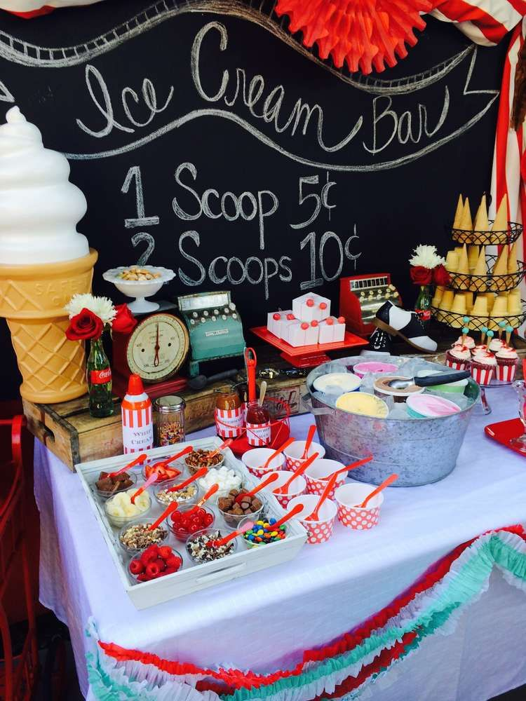 Ice Cream Summer Party Ideas Summer Parties Summer And