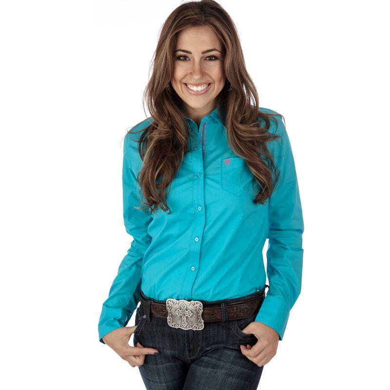 Women's Ariat Turquoise Buttondown Shirt Item # 10012307 | For Me ...