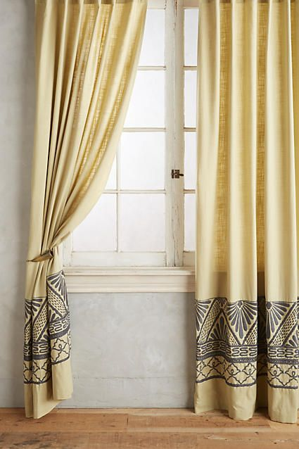 Embroidered Edge Curtain - anthropologie.com