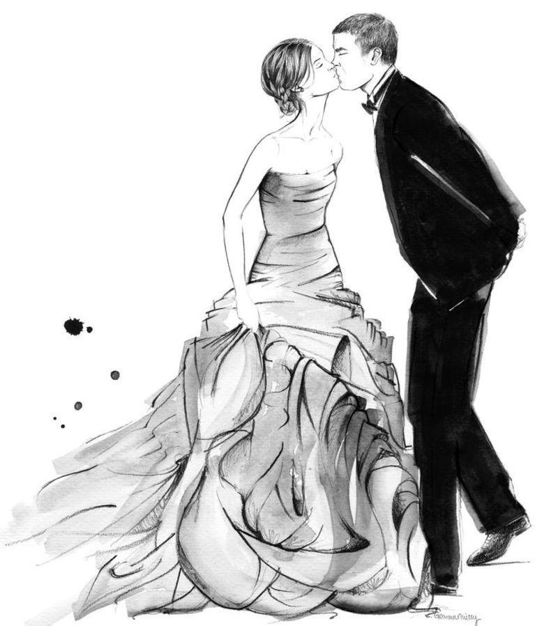 De Jolies Choses En Noir Et Blanc Mariage Illustration Image Mariage Mariage Dessin