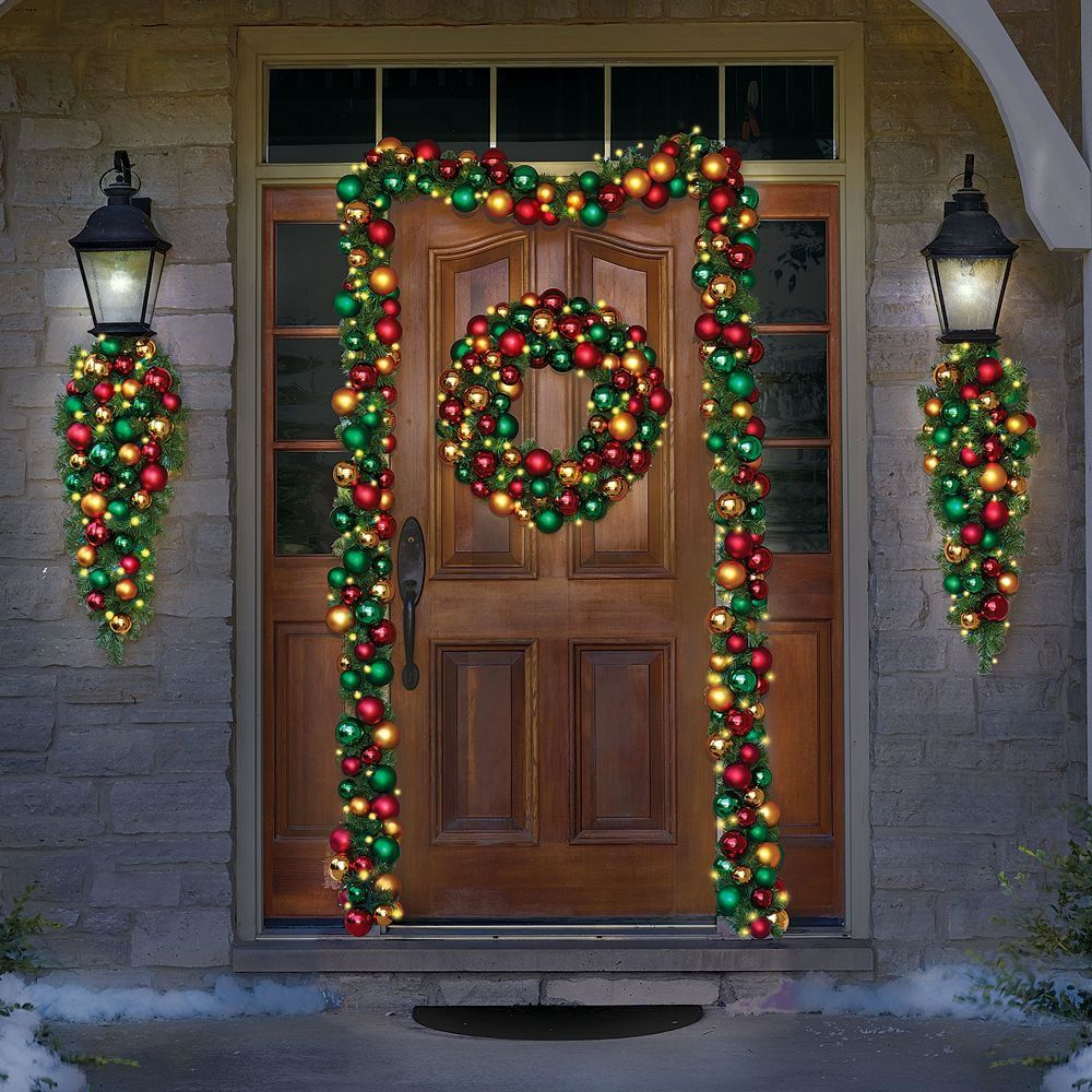 Outdoor Lighted Wreath Alluring Pinterest Inspiration Design